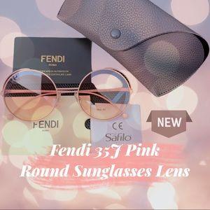 Fendi Pink Round Sunglasses